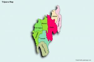 map  tripura