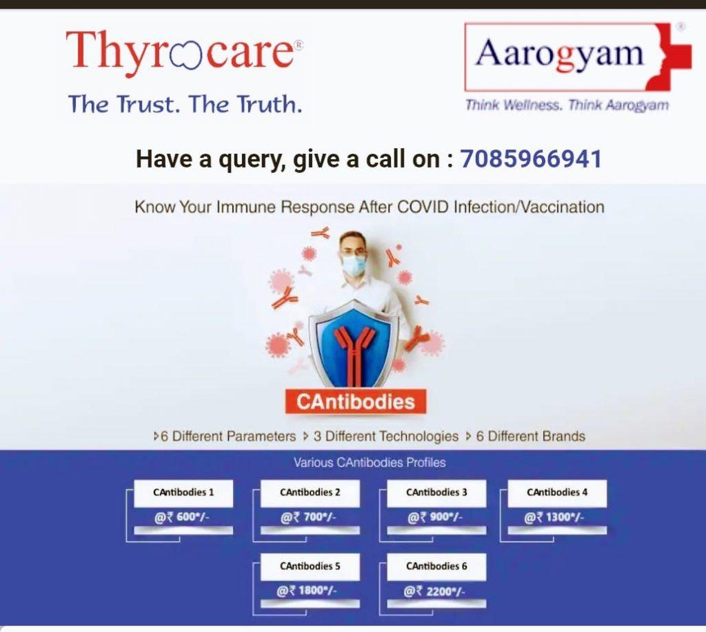 Thyrocare CAntobodies